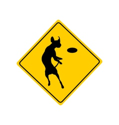Dog agility warning sign vector