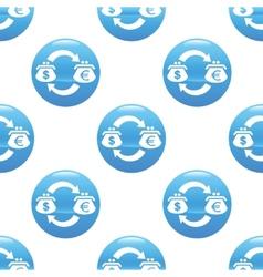 Dollar-Euro exchange sign pattern vector image
