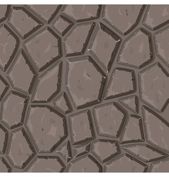 Dry cracked sandstone ground vector