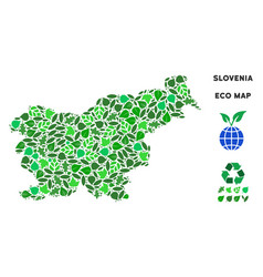 Ecology green collage slovenia map vector