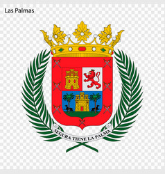 emblem of las palmas city of spain vector image