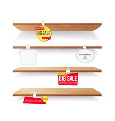 empty shelves advertising wobblers retail vector image