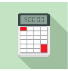 Financial calculator icon flat style vector