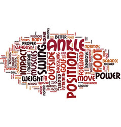 footpower for golf text background word cloud vector image