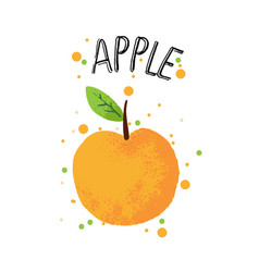 Hand draw apple orange apple vector