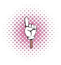 Hand gesture icon comics style vector image