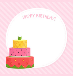 happy birthday card template celebration card vector image