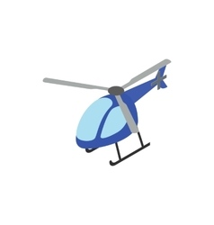 Helicopter icon isometric 3d style vector