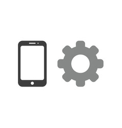 icon concept of smartphone with gear vector image