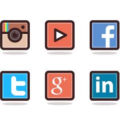 Icon social vector