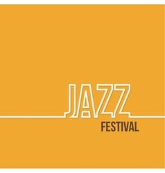 Inscription jazz festival vector image