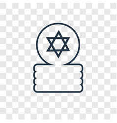 jewish coins concept linear icon isolated on vector image
