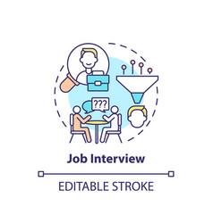 Job interview concept icon vector