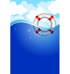 Life Buoy in water vector image