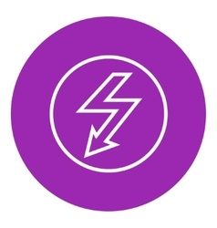 Lightning arrow downward line icon vector