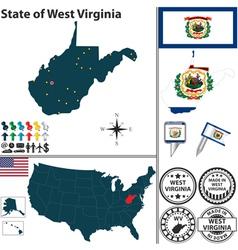 Map of West Virginia vector