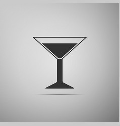 martini glass icon isolated on grey background vector image