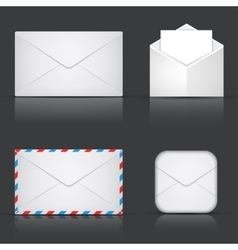modern envelope or mail set vector image