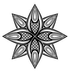 Monochrome beautiful decorative ornate mandala vector