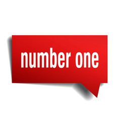 number one red 3d speech bubble vector image