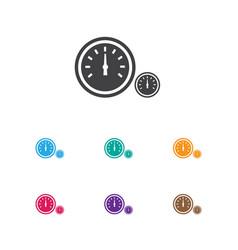 Of transport symbol on clock vector