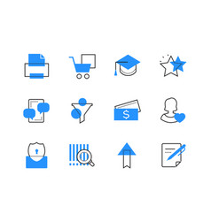 online services and technology color icons set vector image