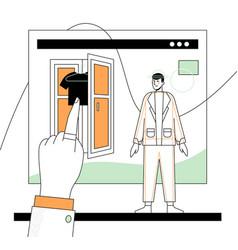 online shopping - modern flat design style vector image