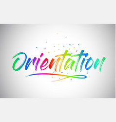 Orientation creative vetor word text with vector