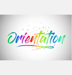Orientation creative word text vector