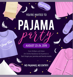 Pajama party poster vector
