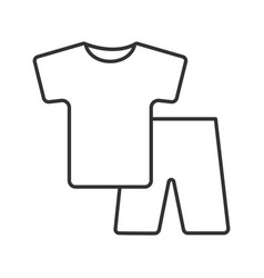Pajamas linear icon vector
