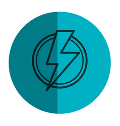 Power ray symbol icon vector