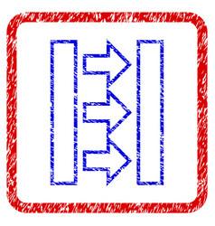 pressure horizontal grunge framed icon vector image