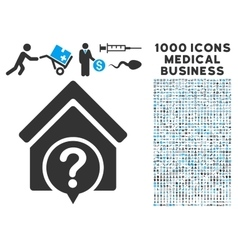 Realty State Icon with 1000 Medical Business vector