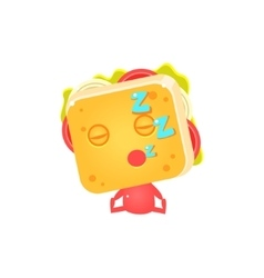 Sandwich Character Sleeping vector