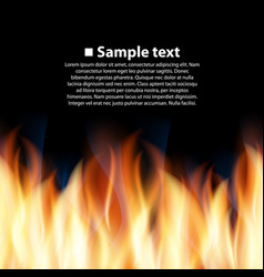 Seamless background with flame vector