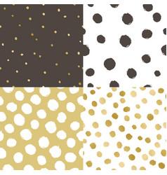 set four paint texture background vector image