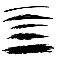 Set hand drawn grunge brush lines vector