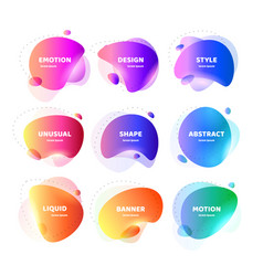 set of modern abstract banner flat vector image