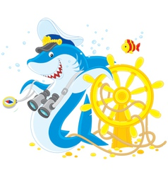 shark captain vector image