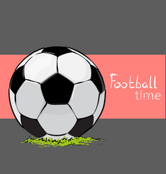 Soccer ball on a design background vector