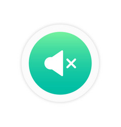 sound mute icon vector image