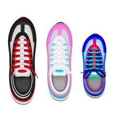 sport shoes realistic set vector image