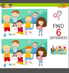 spot the differences with children vector image