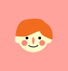 The boy s face is a simple child s drawing vector