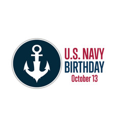 United states or us navy birthday october vector