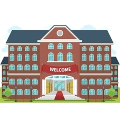 Welcome to high school vector image