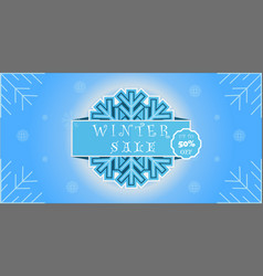 winter sale banner promotion design vector image