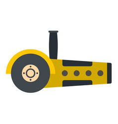 yellow circular saw icon isolated vector image