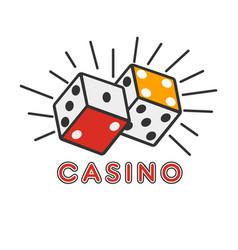 casino poker gambling dice lucky combination vector image